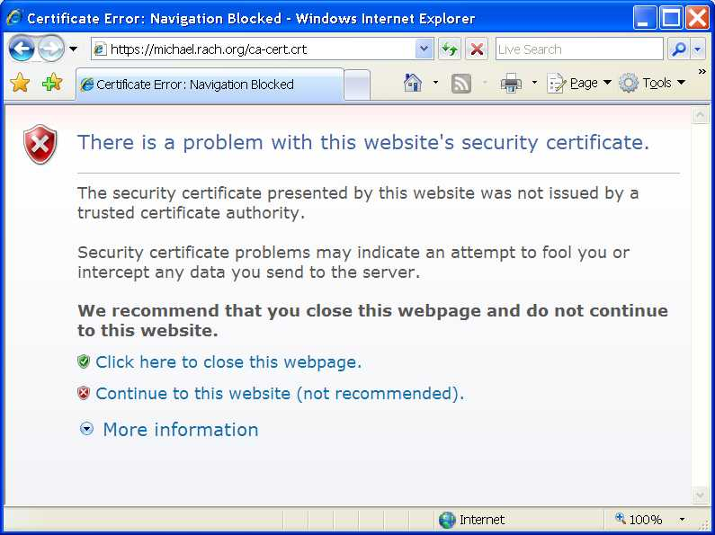 Installing Certificate Authority Certificates